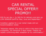 CAR RENTAL SPECIAL OFFER!! PROMO!!